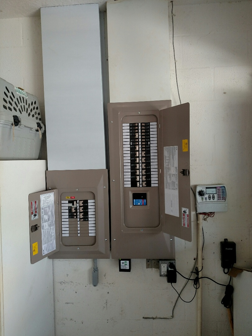 Sarasota, FL - Replaced main panel and sub panel, also added generator inlet for hurricane season. Electrician near me.