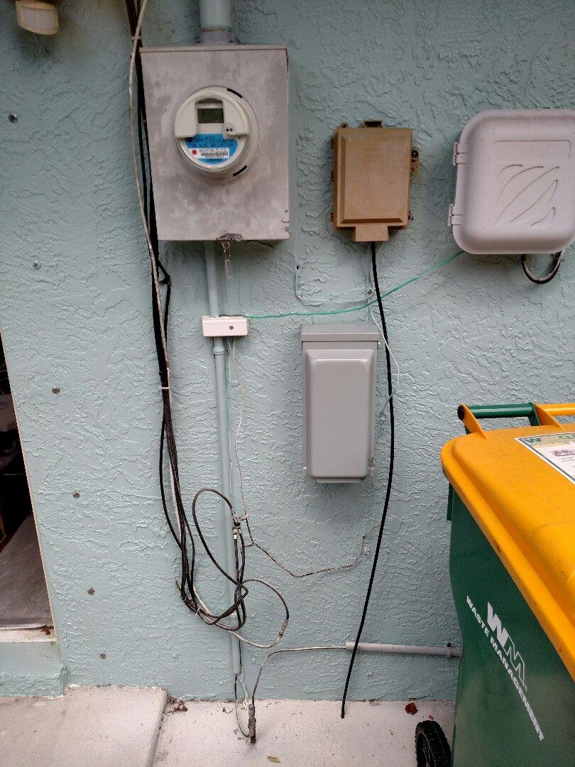 Port Charlotte, FL - Installed 240v 50 amp inlet for portable Generator.