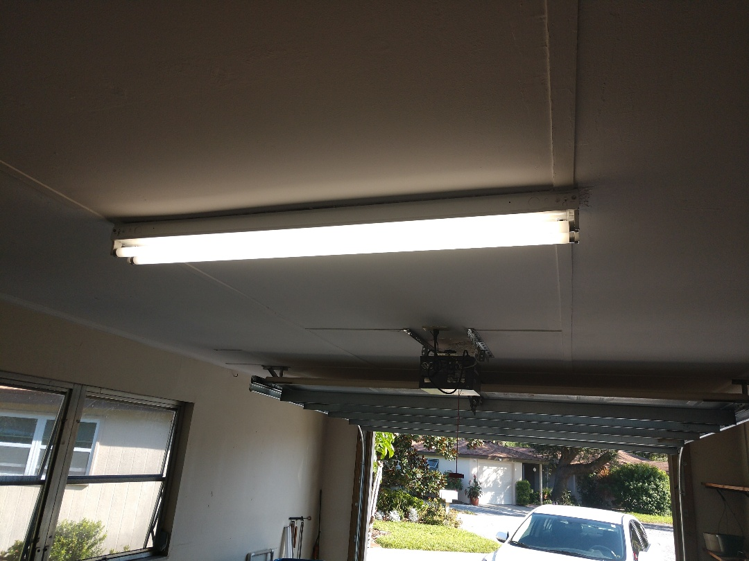 Sarasota, FL - Replaced ballast in garage and bath room florescent fixtures.    Electrician near me