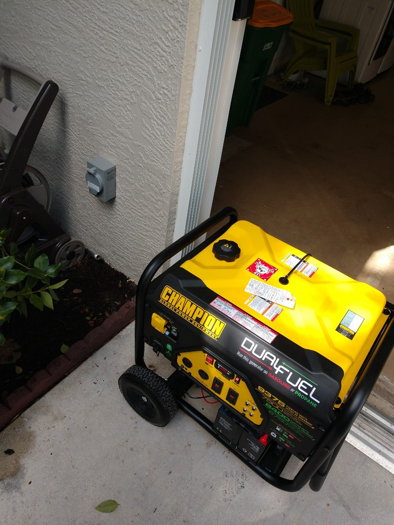 Port Charlotte, FL - Installed portable generator inlet with interlok transfer switch for running portable generator. Electrician near me