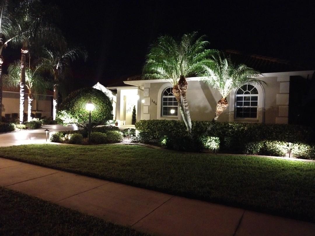Venice, FL - Installed led landscape lighting.