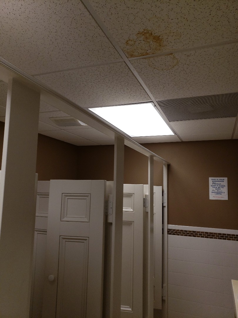 Installed T8 Led tubes in women's bathrooms in Sarasota