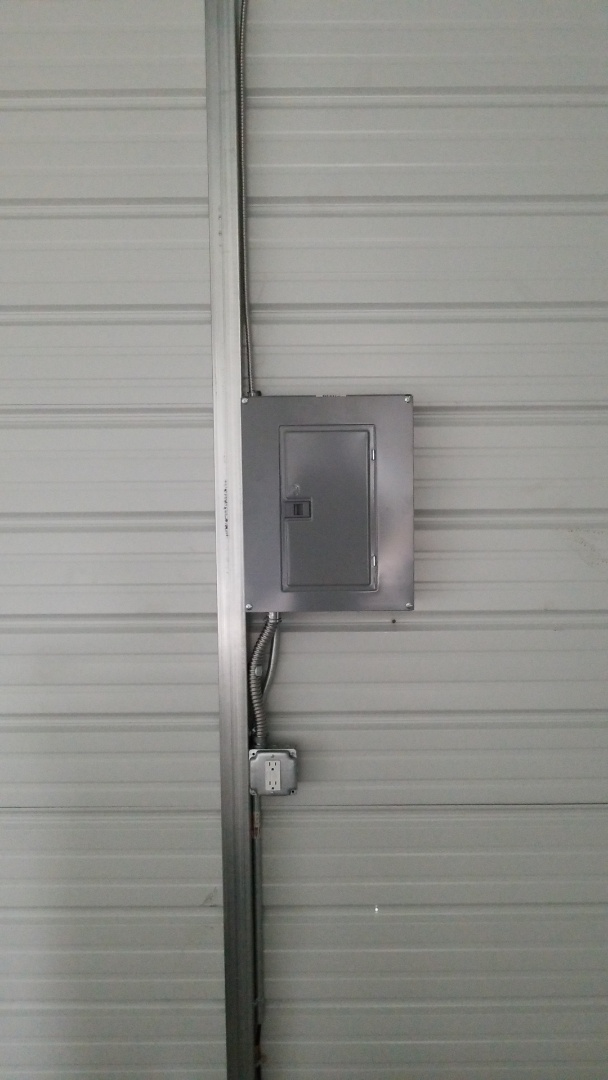 New sub-panel for detached garage in north port. 100 AMP circuit from main panel