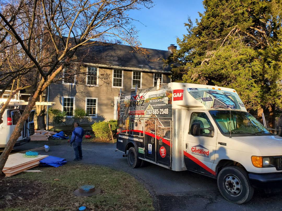 Westport, CT - First day on one of many jobs we have going on today. We are framing 3 dormers to existing home and a new azek trim and new roof replacement withing 2 weeks.