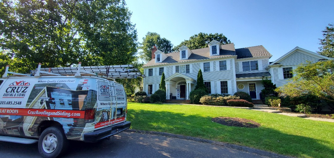 Westport, CT - Roof inspection, client called us after seeing shingles on lawn.