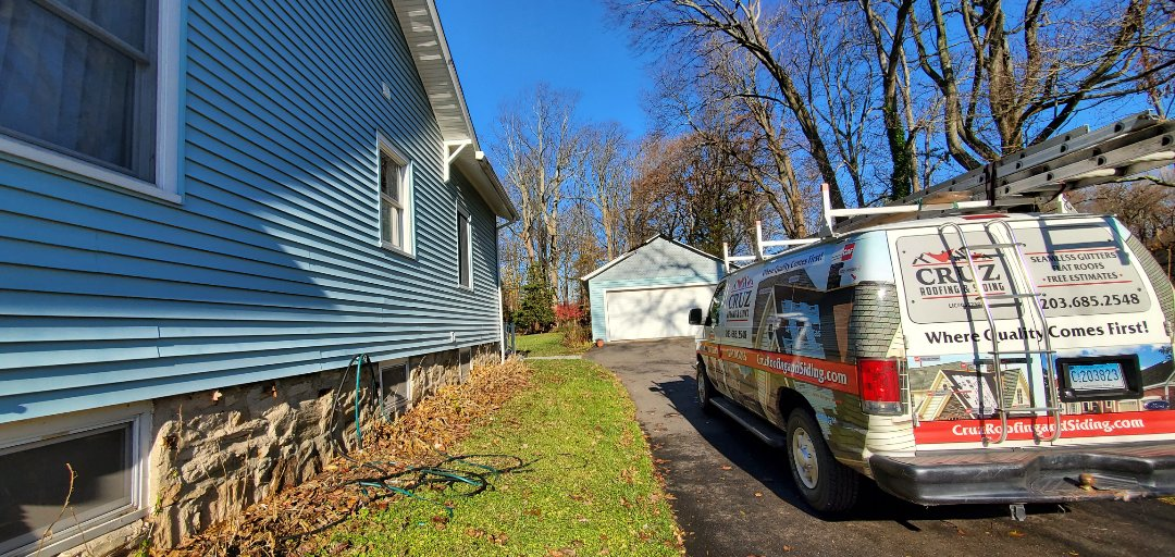 Fairfield, CT - Storm damaged assessment. We will be doing a roof replacement, gutter installation with micro mesh leaf guard system.