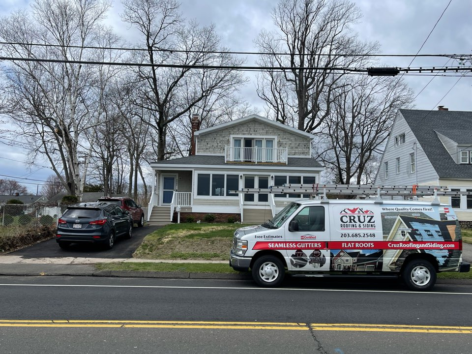 West Haven, CT - Flat roof replacement/ we will install a new mule-hide epdm roof system. In color white to reflect sun.