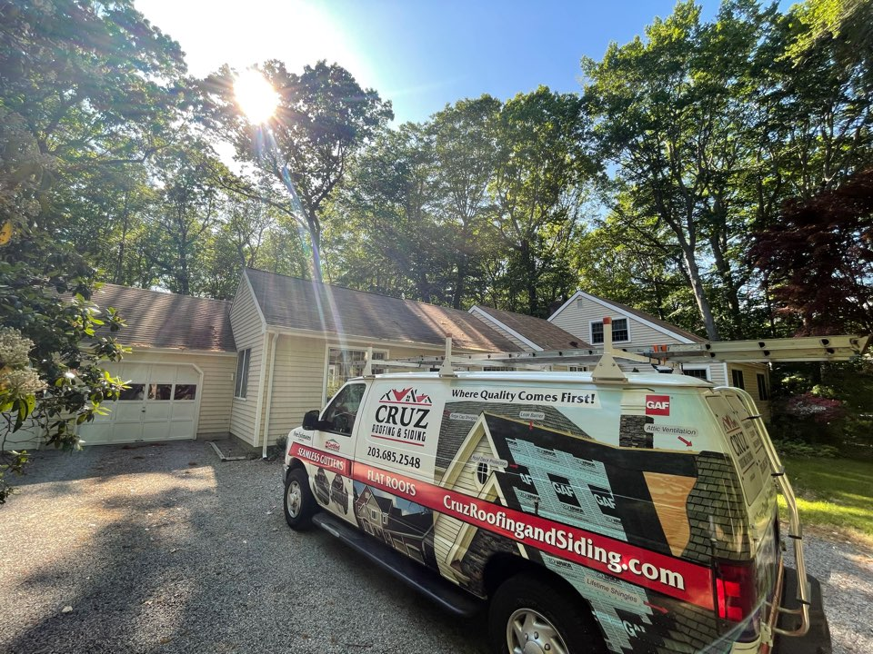 New Canaan, CT - Roof replacement, we will be installing a new GAF Timberline roof system.