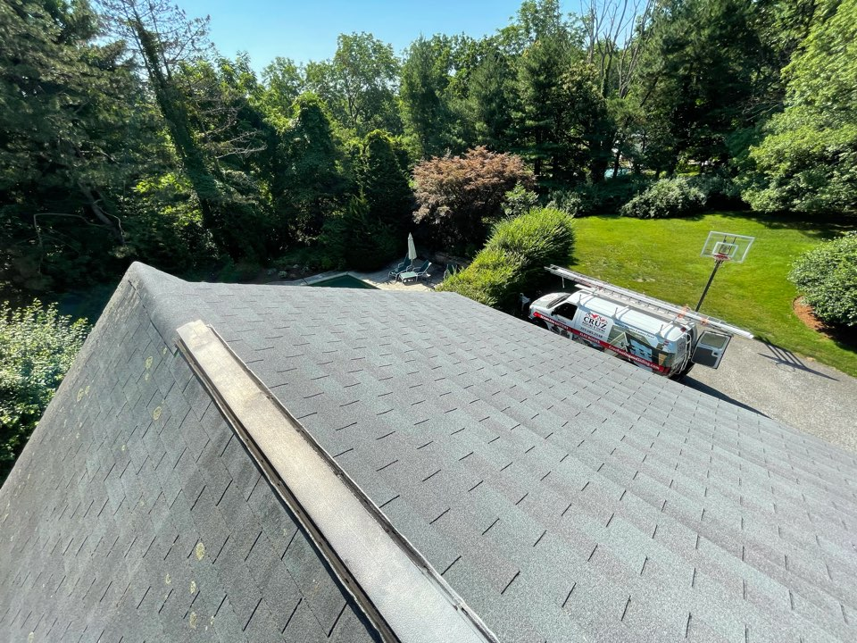 New Canaan, CT - Roof replacement, we will be installing stalling a  GAF Timberline roof system in color pewter grey.