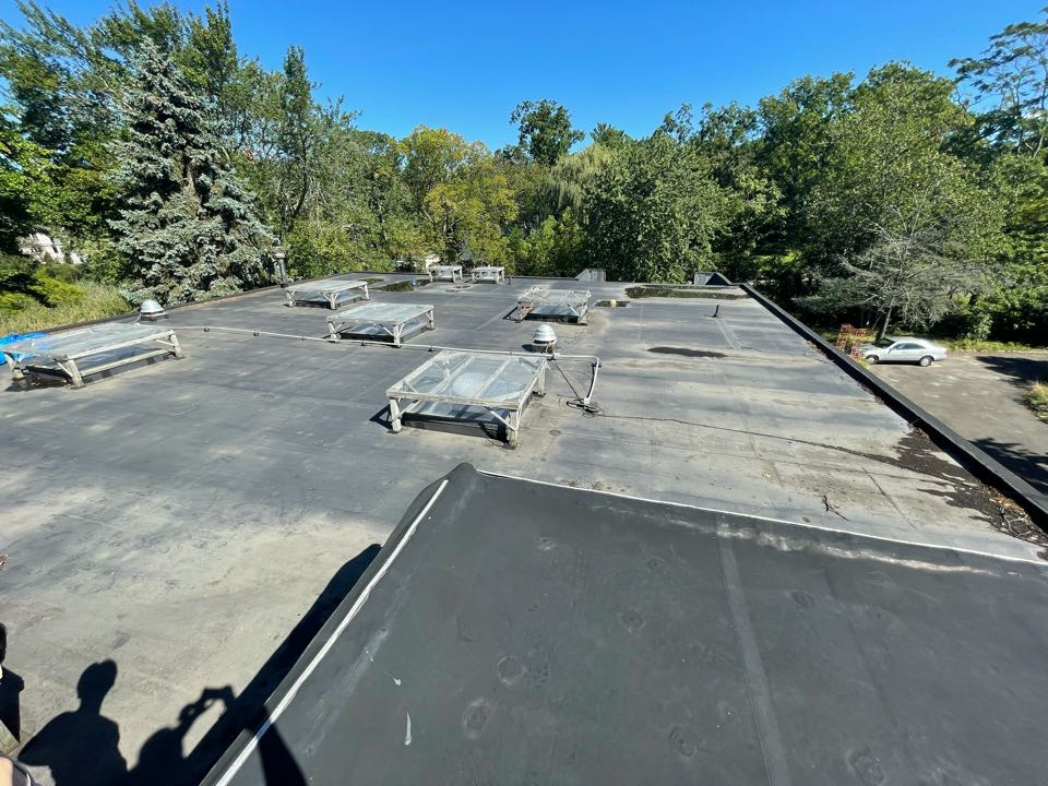 Westport, CT - Flat roof replacement Westport Connecticut, we will be installing a mule hide rubber EPDM roof system.