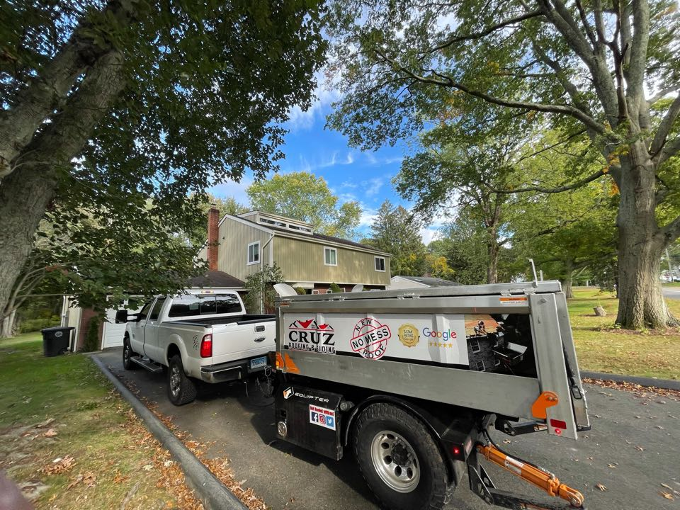 Milford, CT - Roof replacement in Milford Connecticut, we will be replacing the garage roof due to some damage to the drip edge and plywood.