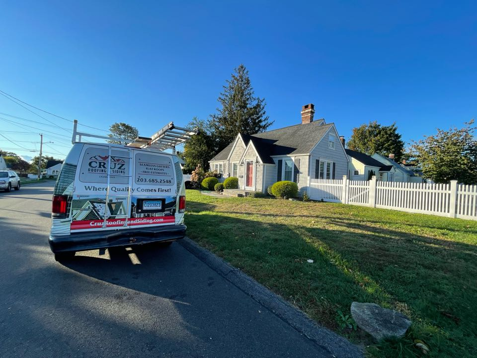 Milford, CT - Vinyl siding installation in Milford Connecticut, we will be installing Certainteed's Cedar impression in color sterling gray.