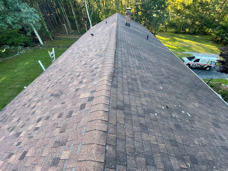 Orange, CT - Roof replacement in Orange Connecticut, we will be installing a Owens corning total roof protection system in color teak.