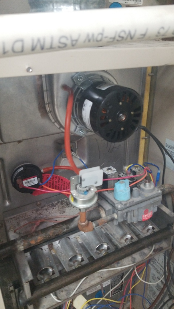 Blanchard, OK - Change inducer fan motor and pressure switch