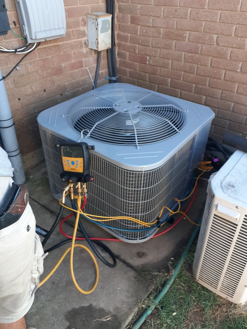 Condenser change out for a customer in Moore today