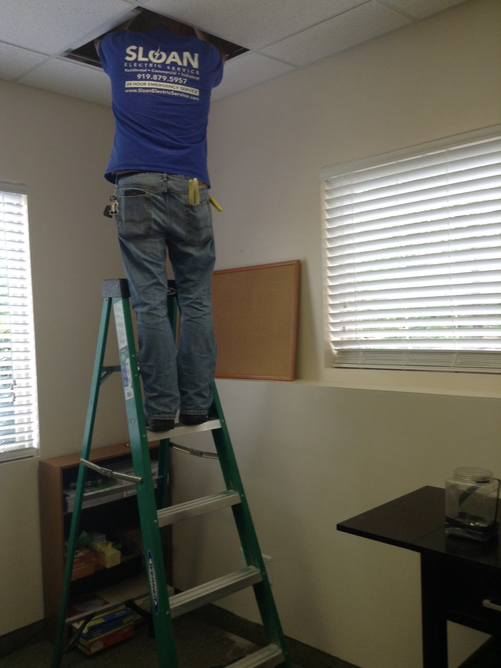 Durham, NC - Commercial trouble shooting power loss to office outlet restored power by running new wire.
