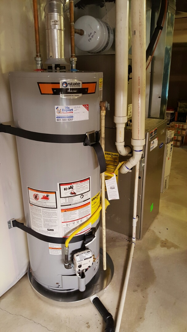 West Valley City, UT - Upgrade 50 gallons water heater in West Valley city.  Install earthquake straps in wets Valley city