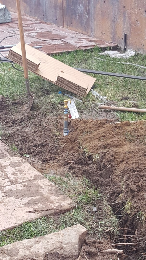 Sandy, UT - Running a underground gas line for new fire pit in back yard at Sandy
