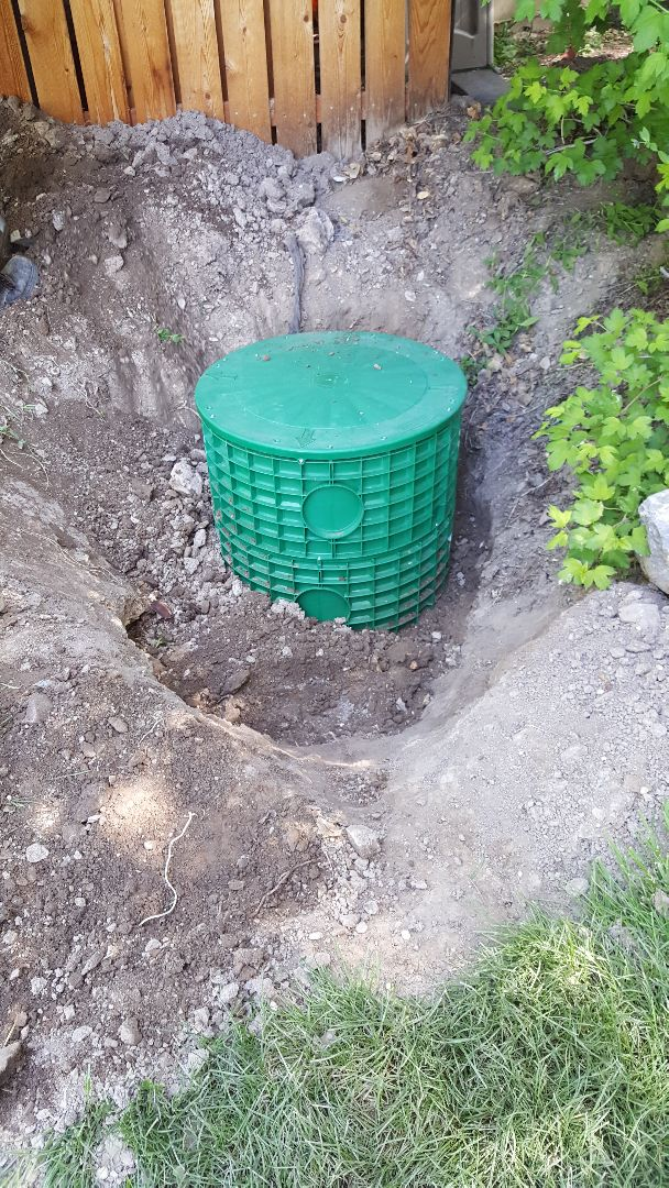 New extended access for existing septic tank in Pleasant Grove, Utah County.