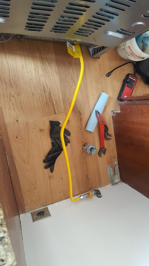 Draper, UT - Installing gas line for stove.  Draper