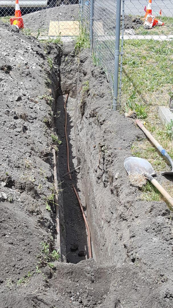 Salt Lake City, UT - Running a new main copper  water line foe a house.  Salt lake city