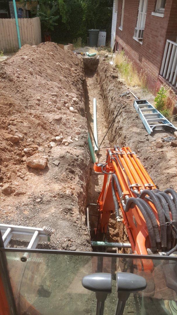 Salt Lake City, UT - Main sewer line  replacement.  Salt lake city