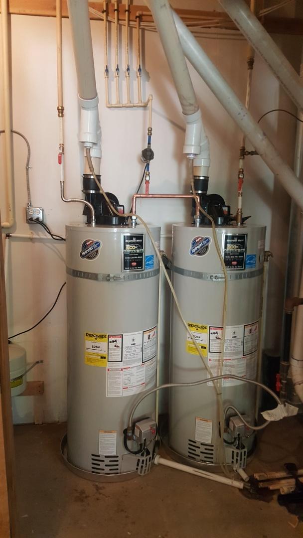 Replacing 2 water heaters.  Sandy