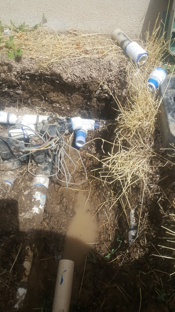 Sprinkler system repair in South Jordan.