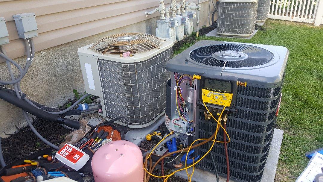 West Jordan, UT - New Air conditioner system in West Jordan Utah.