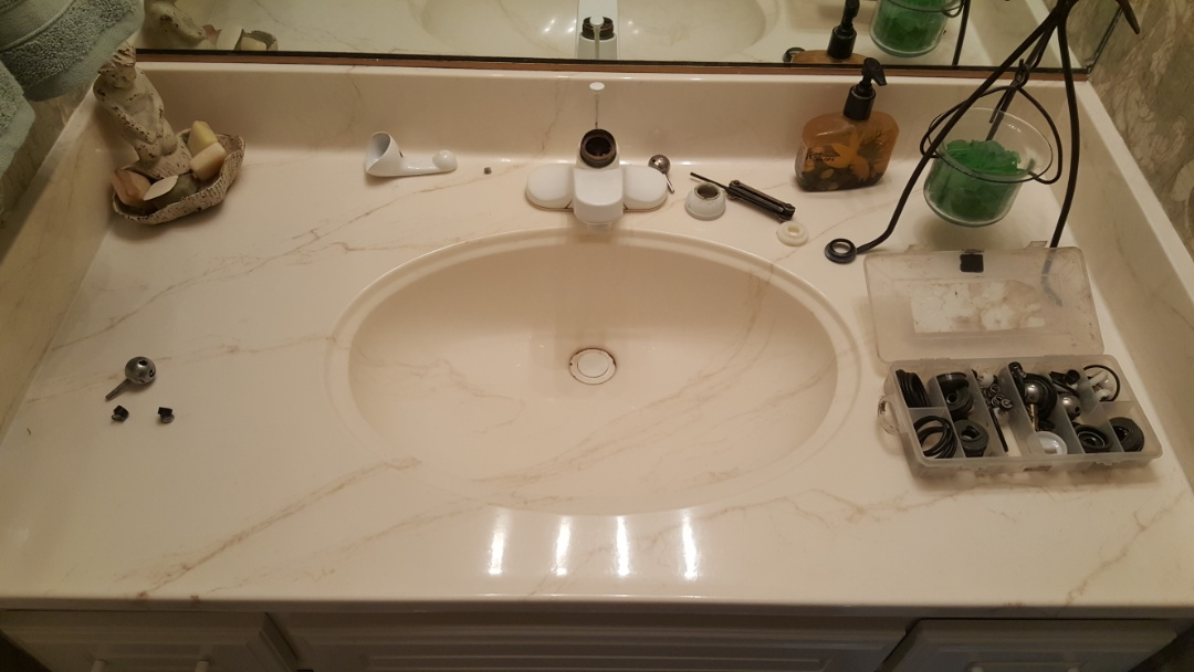 Repairing several plumbing problems.  Salt lake city