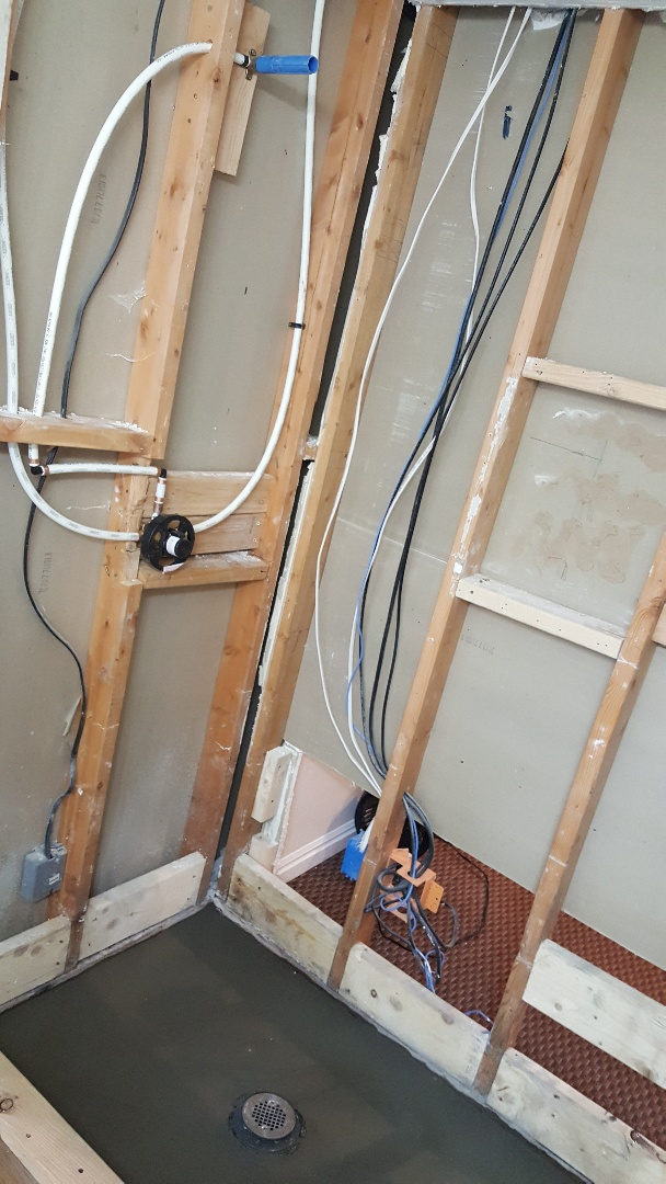 Remodelling shower  New water lines and New drain