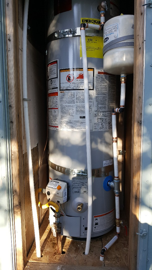 Mobil home water heater replacement in Sandy