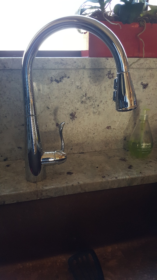New kitchen faucet in white hills states