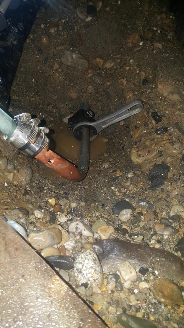 Fixing a leak in main water line for apartment building.  West Jordan