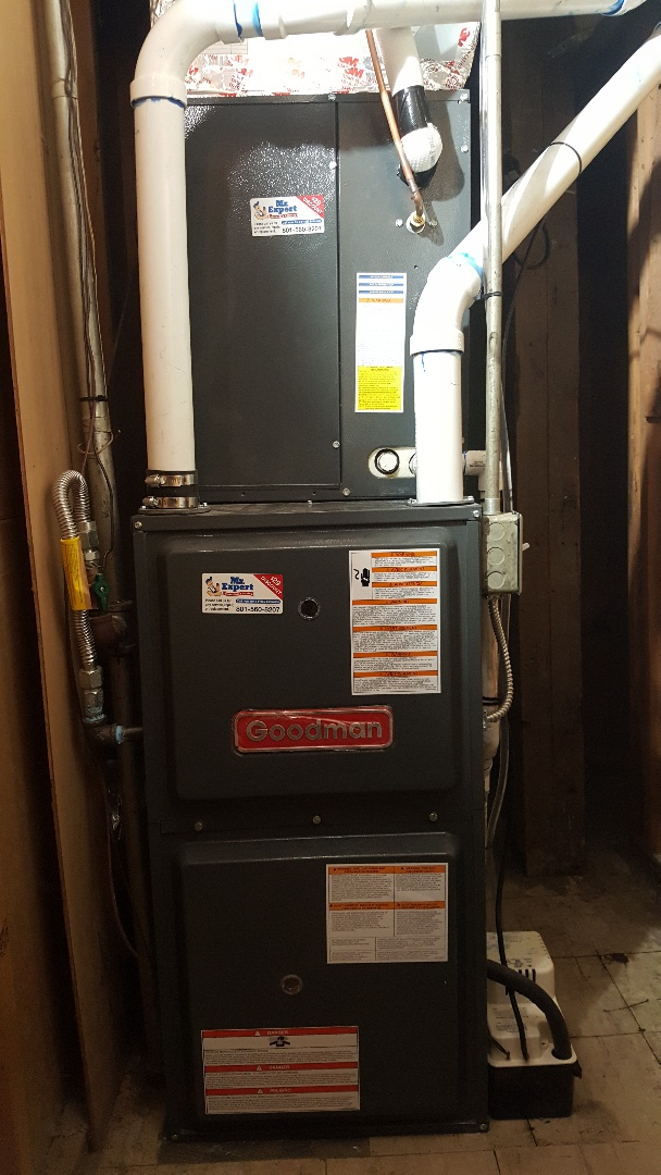 New furnace and air conditioning  in Kearns, Utah.