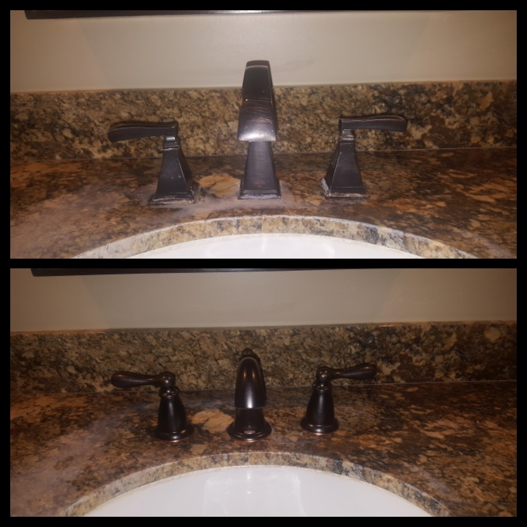 Replacing a wide spread faucet.  Sandy