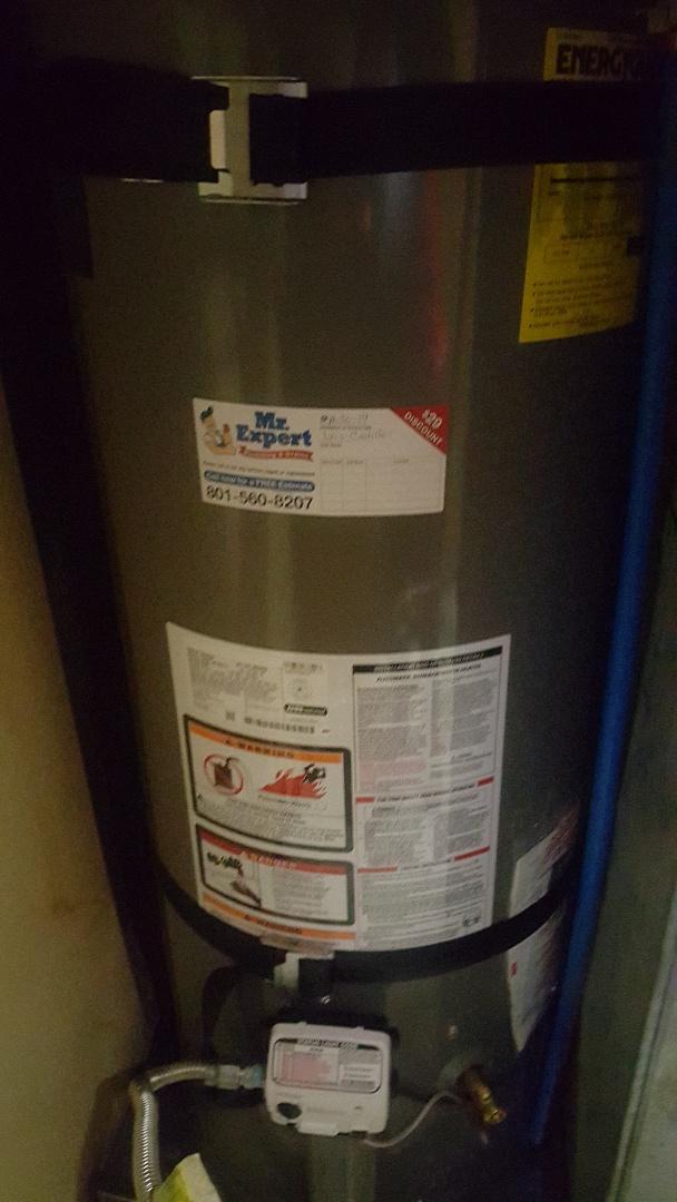 Replace a water heater in West Jordan.