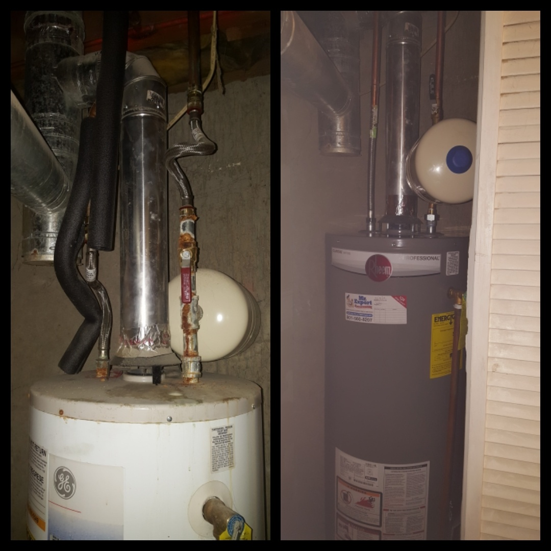 Replacing gas water heater. Magna
