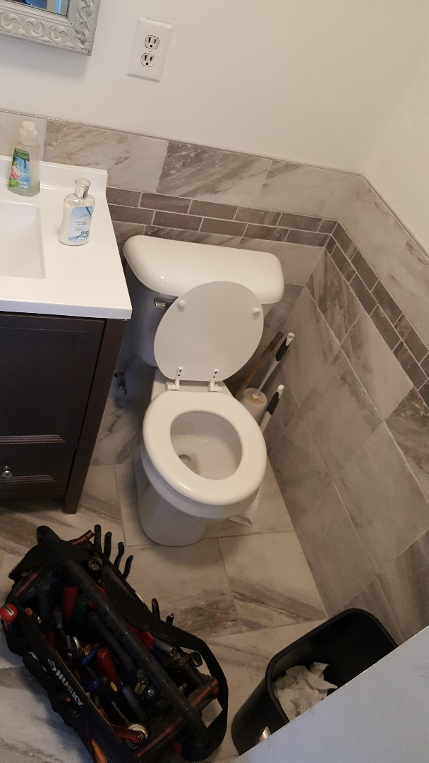 Replacing hold toilet in bountiful