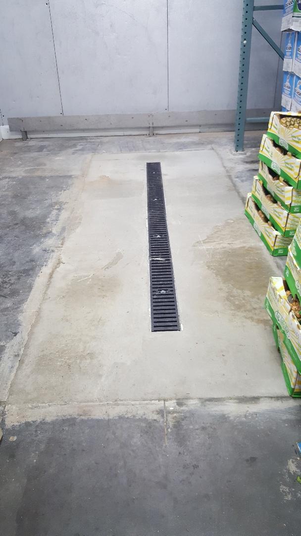 Commercial trench drain in Kearns, Utah.