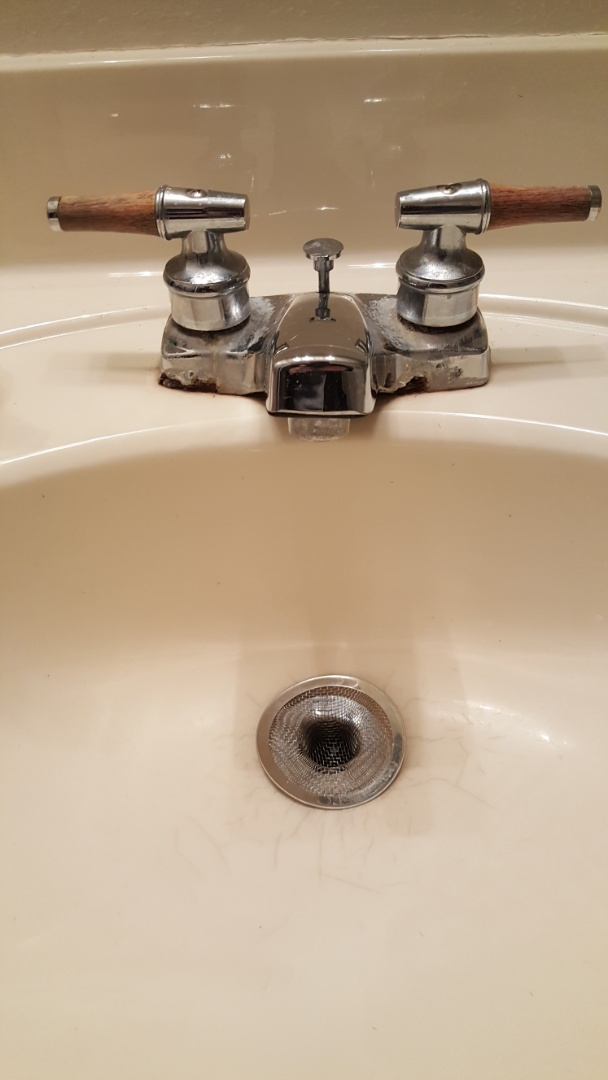 Replacing old lavatory faucet in Taylorsville