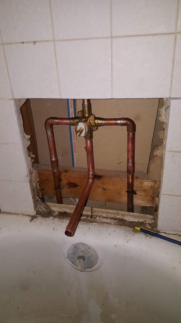 Replacing old shower valve.  Kearns