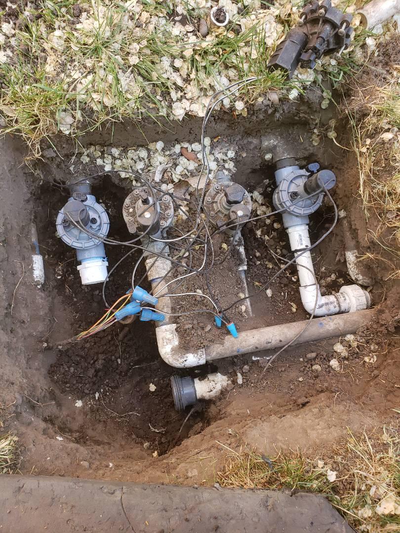 Salt Lake City, UT - Replacing valves for sprinkler system. Salt lake city