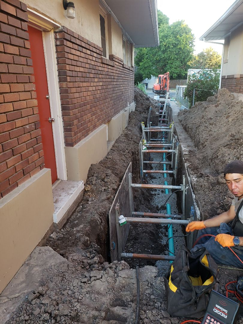 Replacing a difficult sewer main in Salt Lake are.