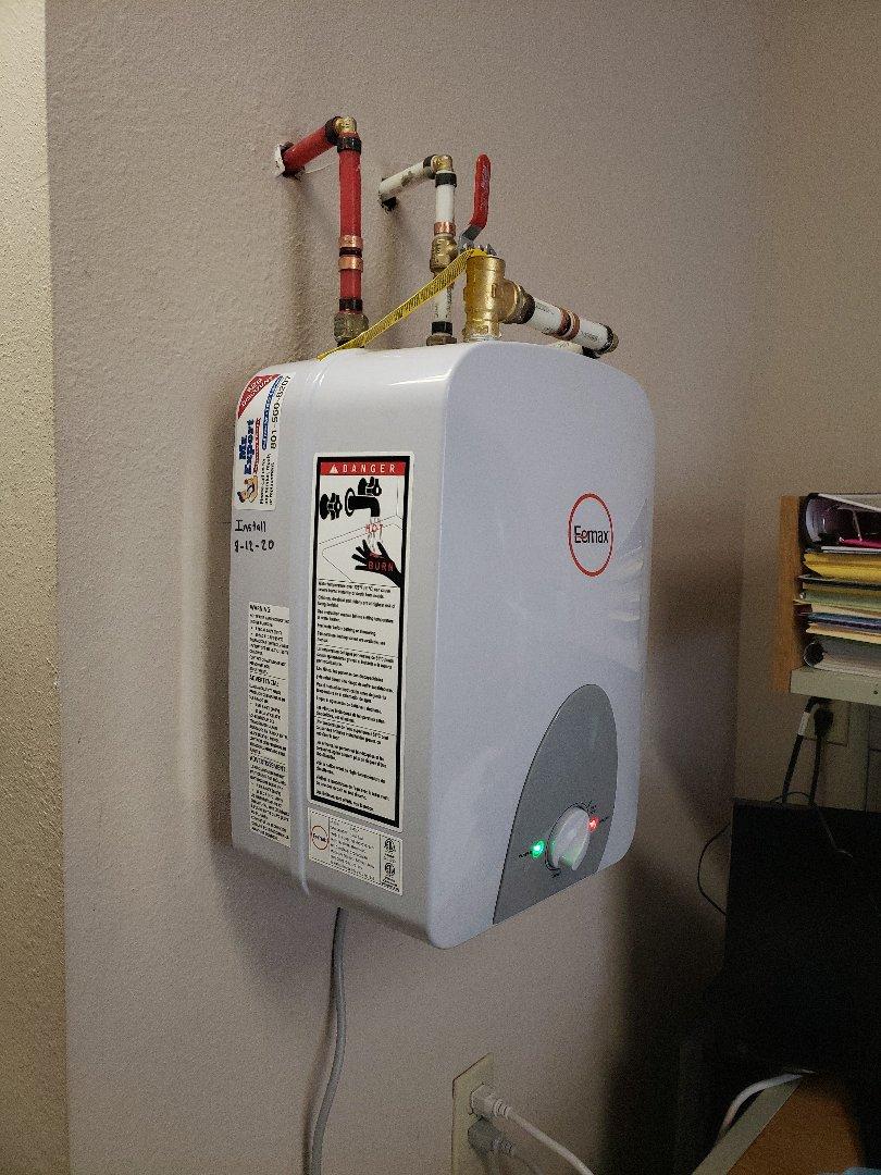 West Jordan, UT - Replacing an electric water heater in West Jordan, Utah.