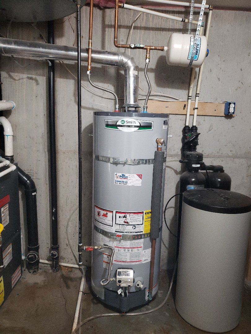 Riverton, UT - New gas water heater installation in Draper area.