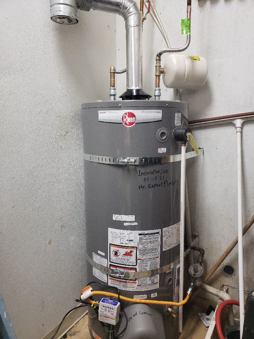 New gas water heater up to code in the Salt Lake City area.