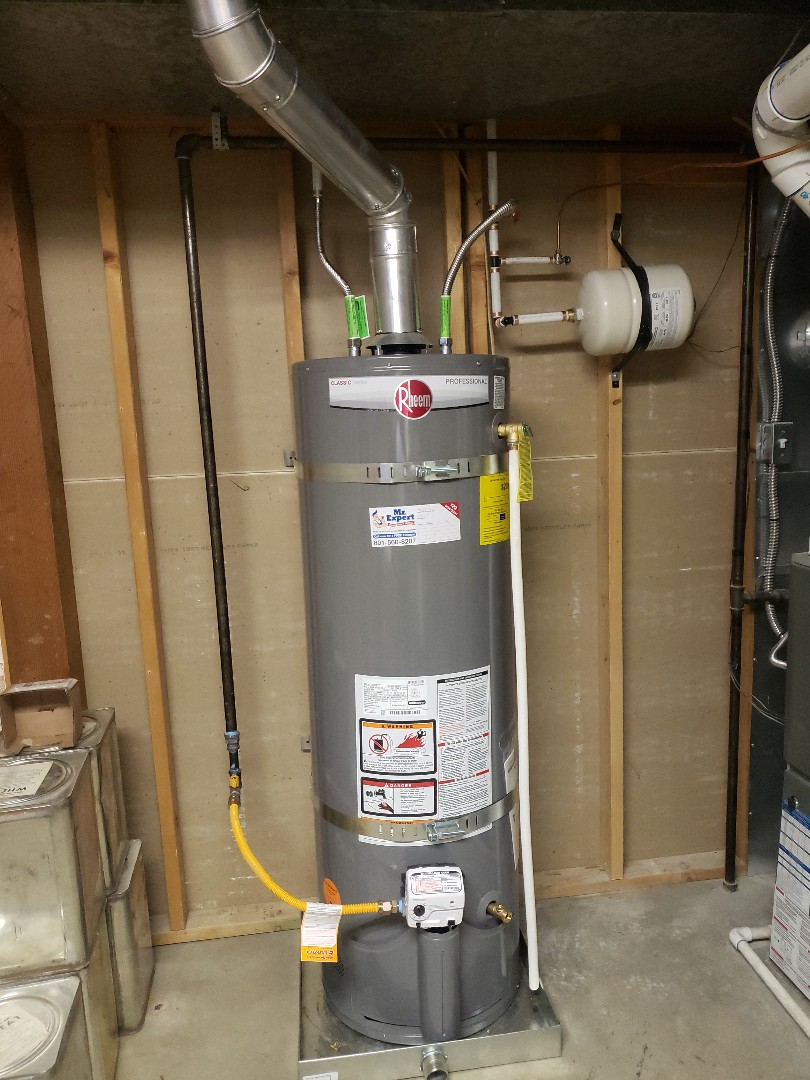 Holladay, UT - Replacing an old gas water heater in Cottonwood area.