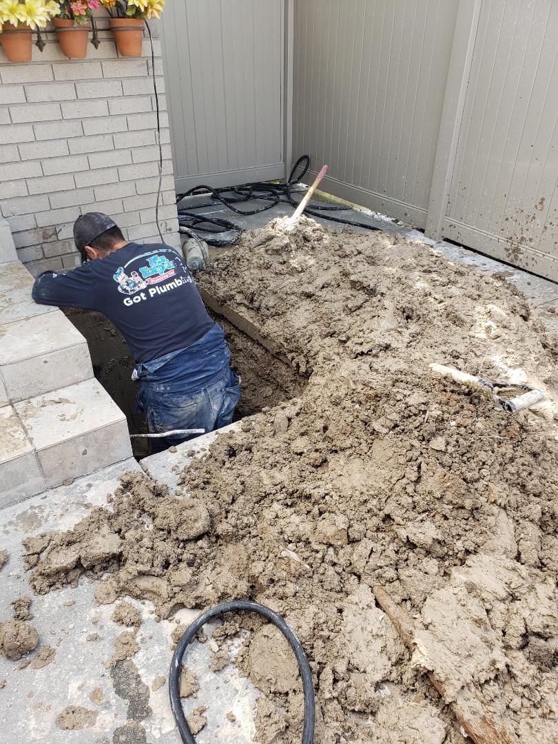 South Jordan, UT - Water leak repair on underground line. South Jordan