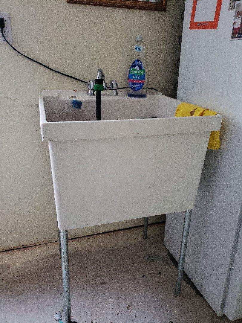 South Jordan, UT - Utility sink drain repair in basement,  South Jordan area.